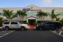 RGF's main office, labs and R & D (Note: the red carpet & courtesy cars)