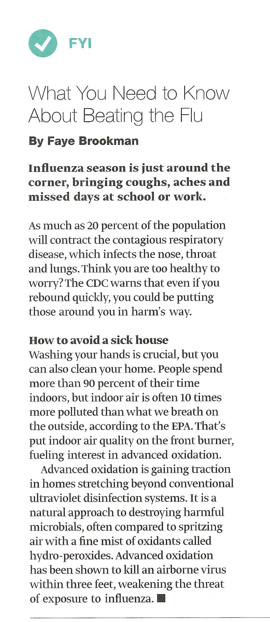 usa today swine flu article