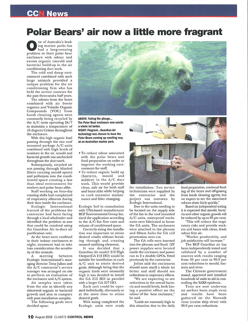 Polar bear article