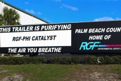 PHI advertising trailer with PHI purifying the air