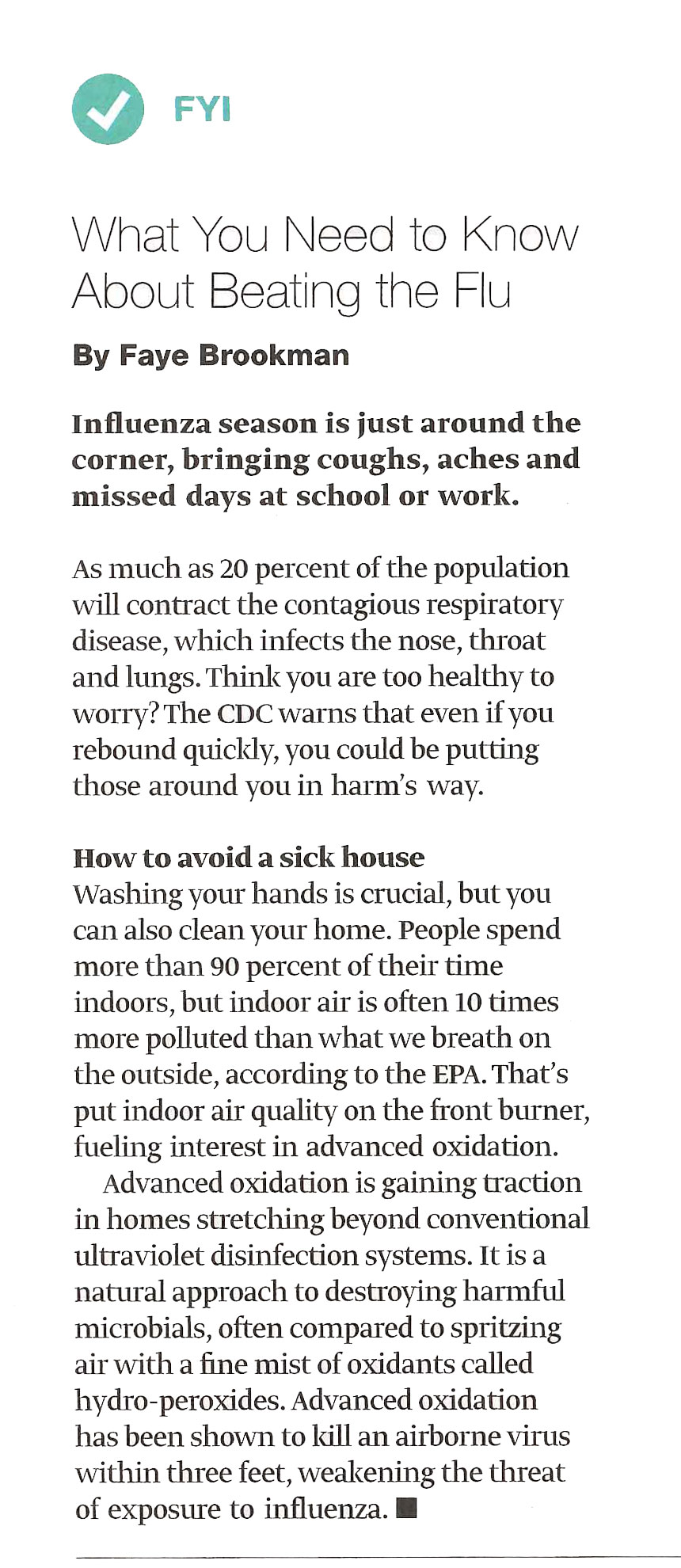 Article about the FLU