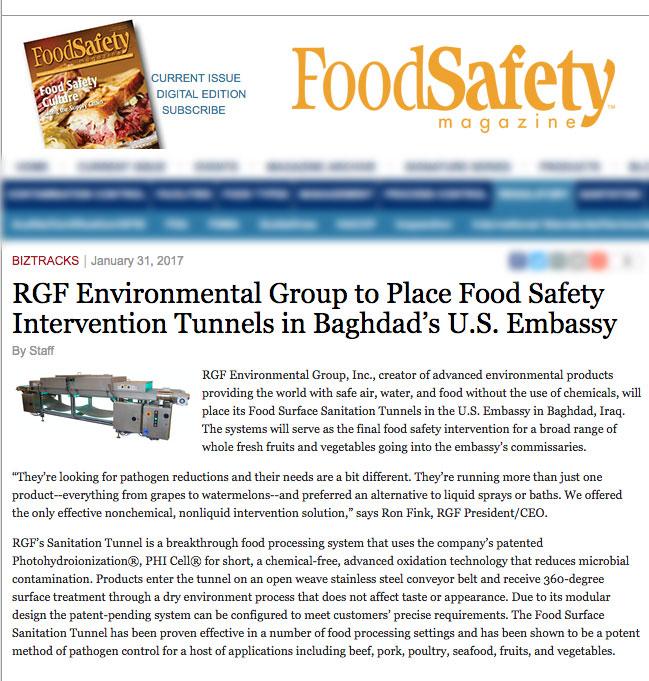 Food Safety Magazine Jan 31 2017 - US Embassy