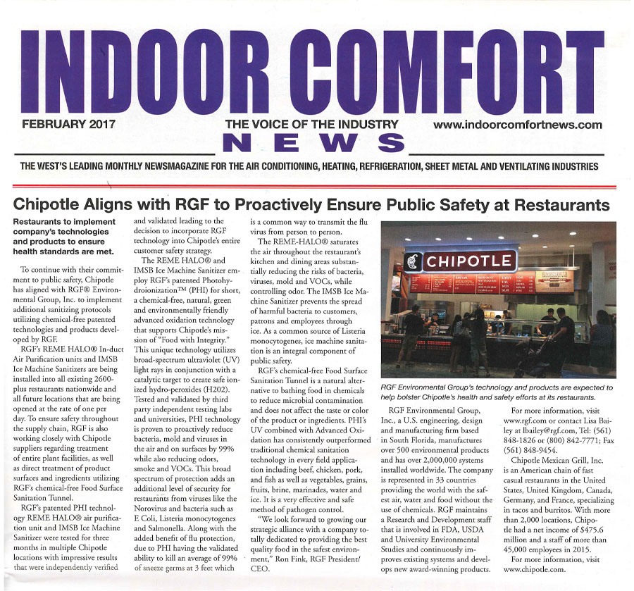INDOOR COMFORT NEWS, February 2017 - Chipotle