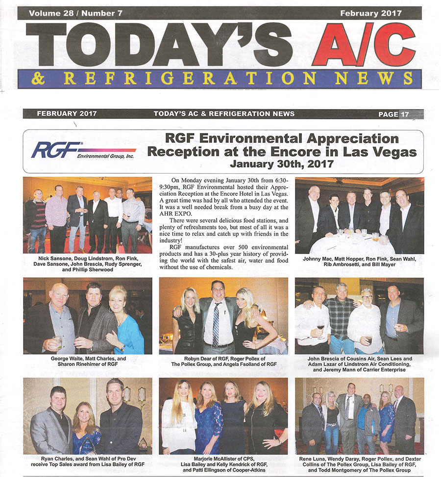 Todays AC, February 2017 - RGF's Appreciation Reception