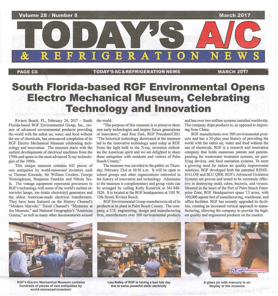 Todays AC, March 2017 - Electro Mechanical Museum