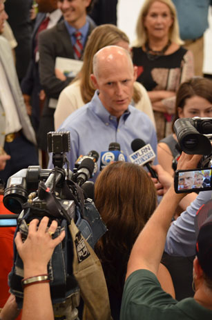 Governor Scott Press Conference at RGF-2