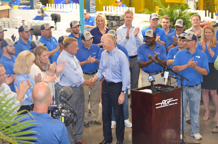 Governor Scott Press Conference at RGF