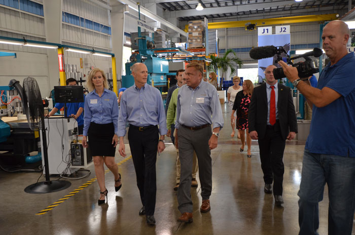 Governor Scott touring RGF
