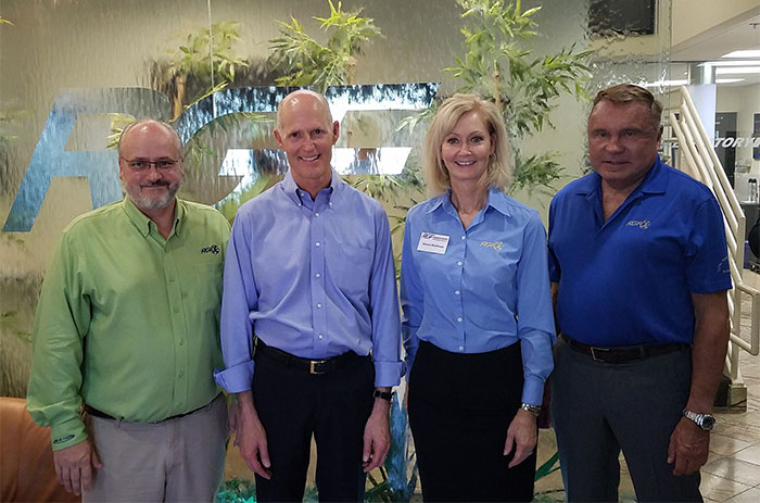 Governor Scott with Walter Ellis, Sharon Rinehimer and Ron Fink
