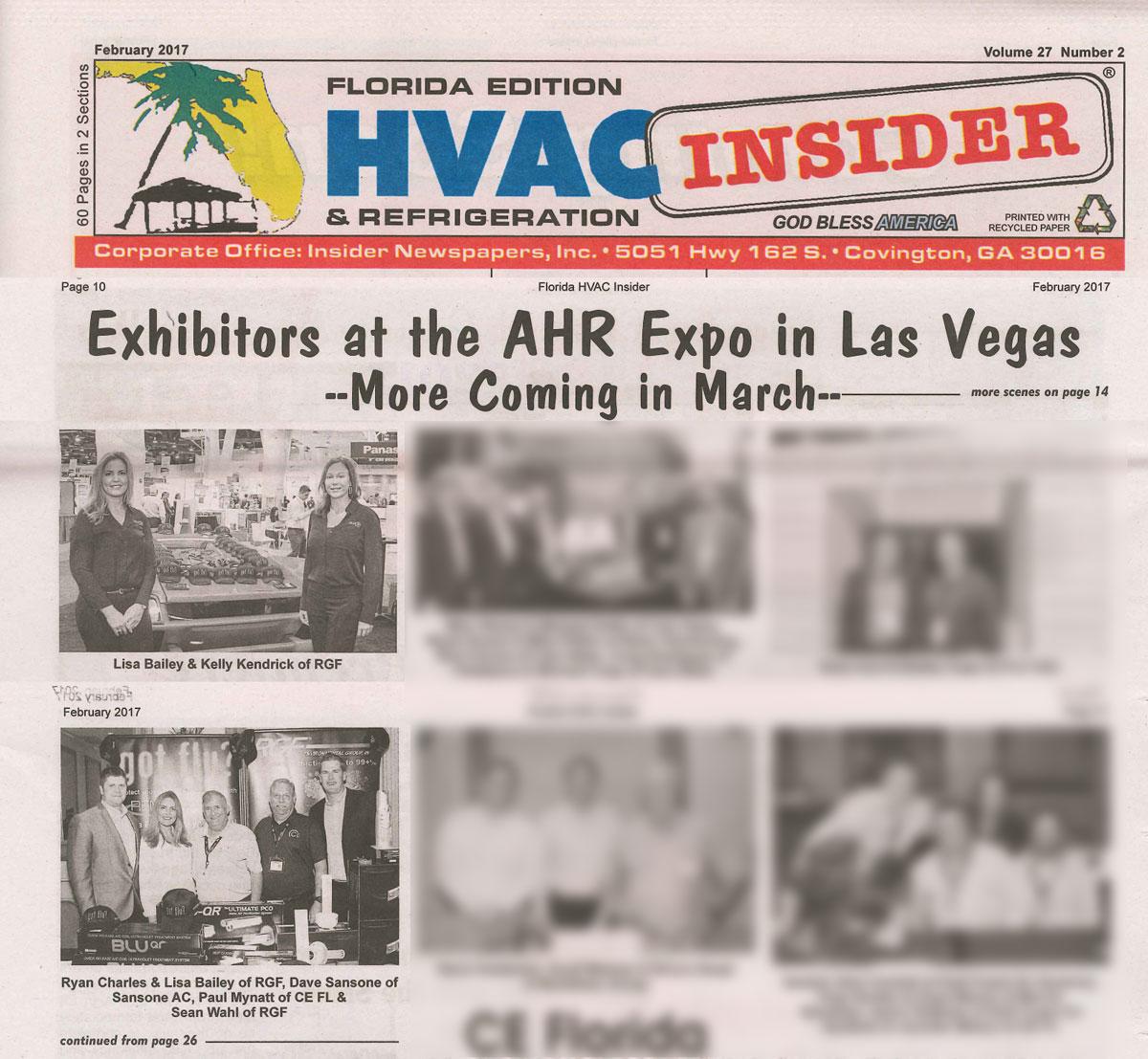 HVAC INSIDER, February 2017 - AHR Expo