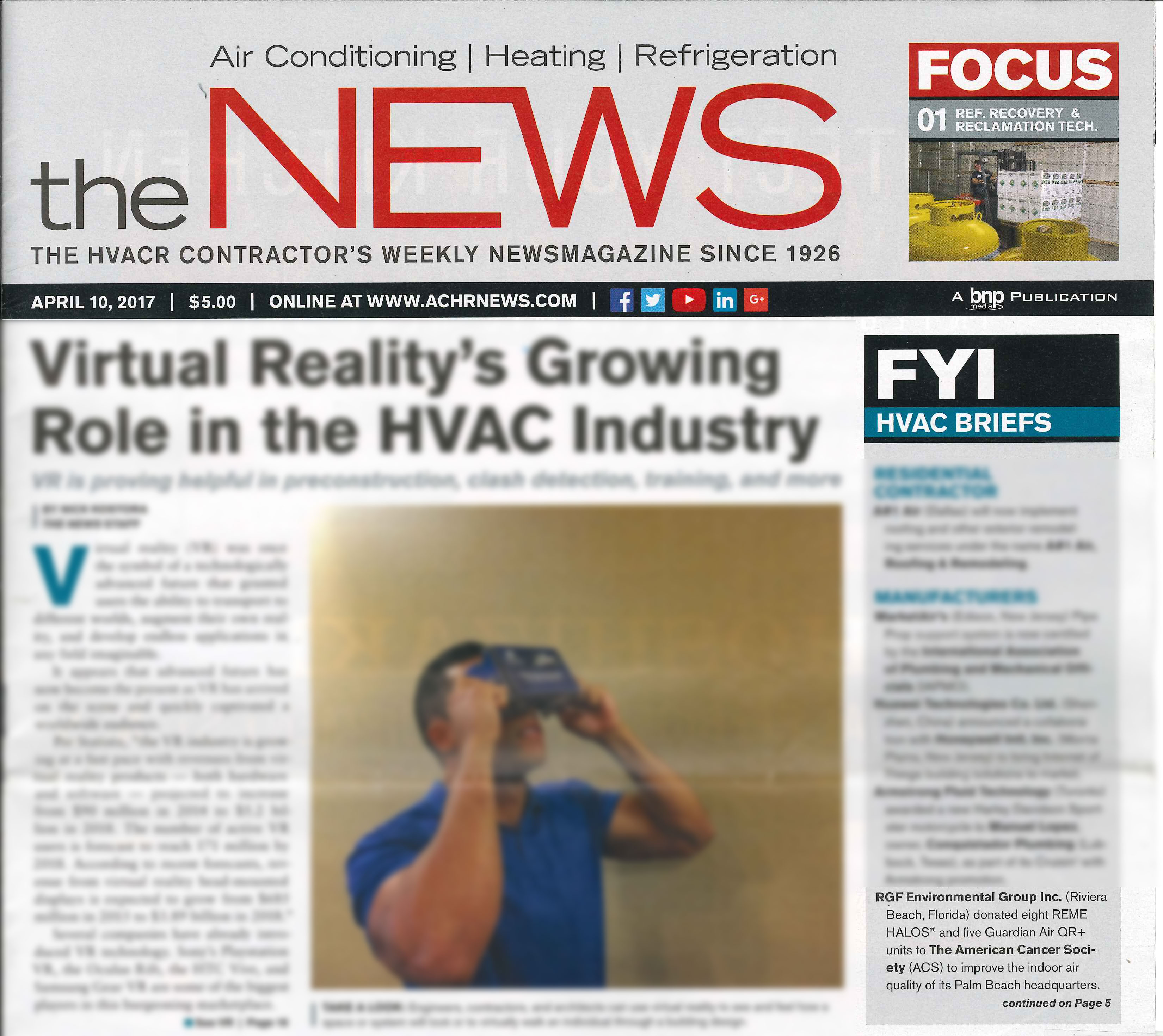 the NEWS, April 2017 - HVAC BRIEFS