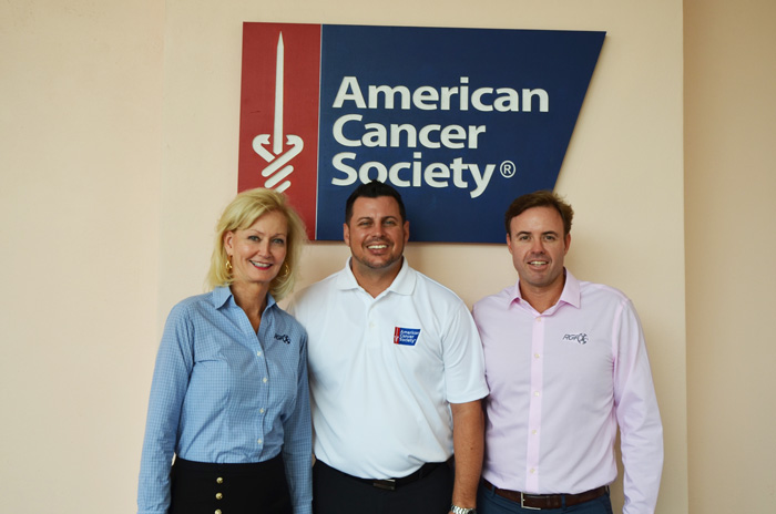 Chris Snyder from ACS with Sharon Rinehimer and Tony Julian of RGF