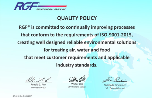 RGF's Quality Policy