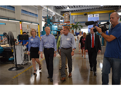 Gov Scott touring and speaking at RGF