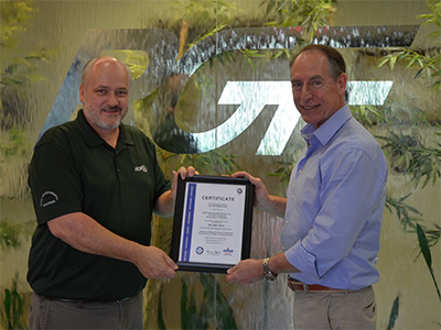 Walter recieving RGFs ISO certification