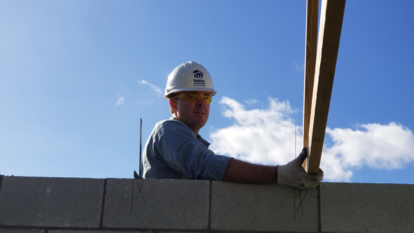 Tony Julian helping with habitat for humanity home build
