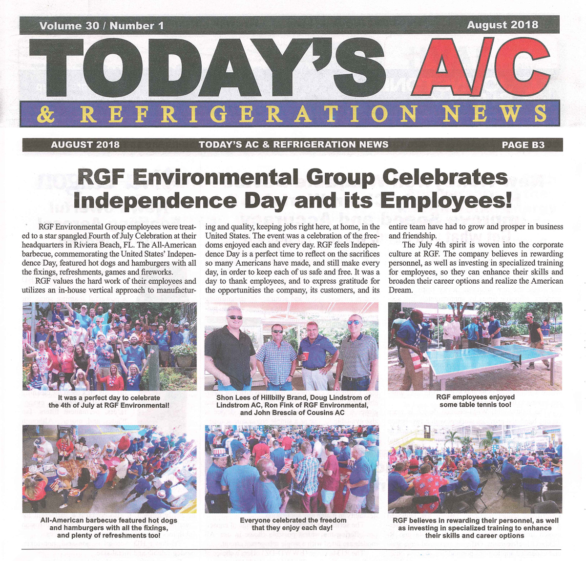 Today's AC, August 2018 – Independence day
