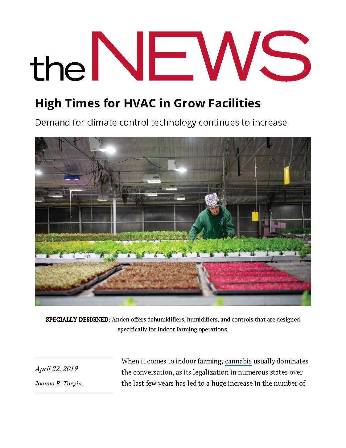 High Times for HVAC in Grow Facilities ACHR News