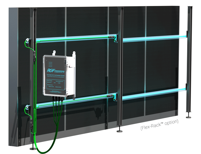 Commercial UV Flex Rack Option