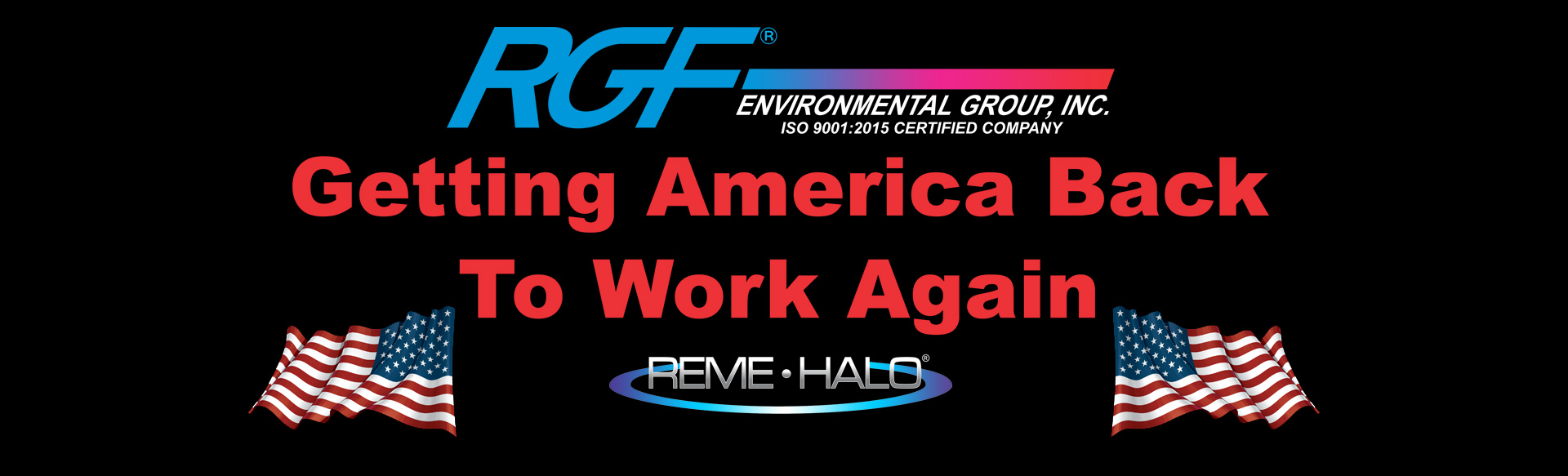Getting America back to work again banner