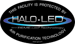 Protected by HALO LED Sticker