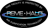 Protected by REME HALO Sticker