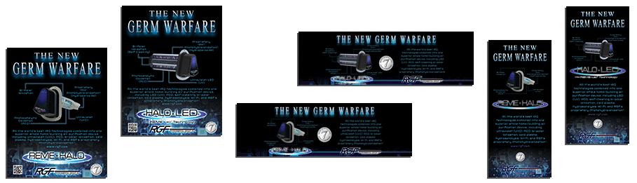 Germ Warfare marketing mat
