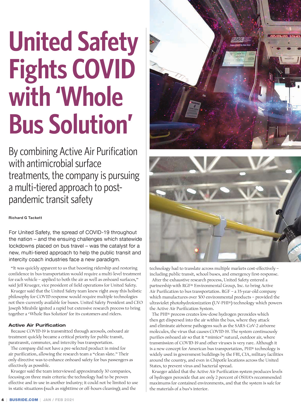 Bus Ride, February 2021 - 'WHOLE BUS SOLUTION'